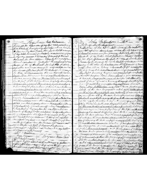 Last Will and Testiment of John Witherspoon, 1802