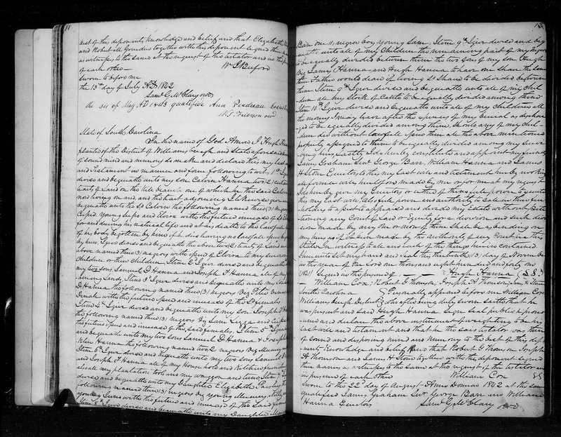Will of Hugh Hanna, 1841