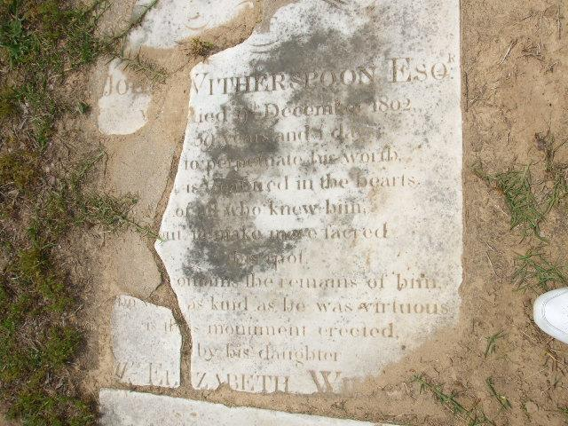 Grave of John Witherspoon