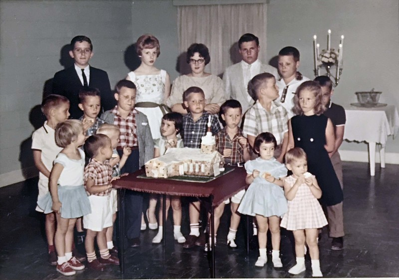 Children of St. Paul's Presbyterian Church celebrate the completion of the new sanctuary, 1960.