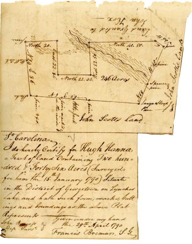 Hugh Hanna Land Grant of 1790
