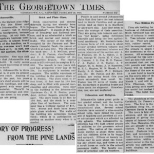 Progress In The Pinelands, Georgetown Times, 2-22-1913 Johnsonville.pdf