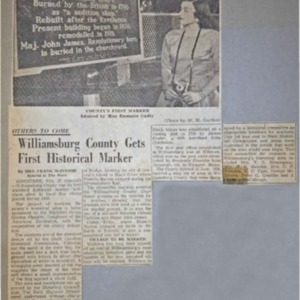 Williamsburg County gets First Historical Marker - The State - 27 Feb 1958.pdf
