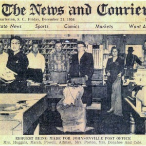 Request for new Post Office, News and Courier, 12-2-1956.pdf