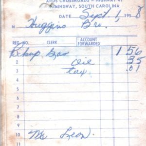 B.A. Cox and Son Ards Crossroads Receipt 1958.jpg