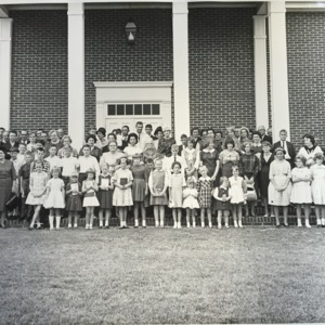 First Baptist members in front of new sanctuary - 1965.jpg
