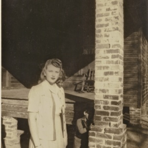 Hanna cousins on Sunday morning before church, 1945.
