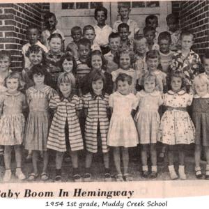 First Graders, Muddy Creek School 1954