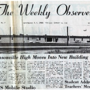 JHS moves to new building - Weekly Observer 1974.pdf