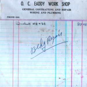 O.C. Eaddy Work Shop Receipt 1958.jpg