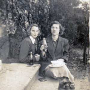Vonnie Hanna and Wera Nell Prosser, Johnsonville HS 1953.jpg