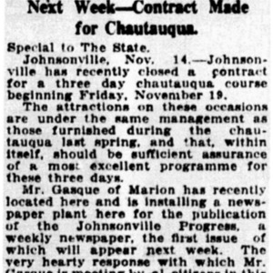 Busy Johnsonville to Have Newspaper - The State - 1915.pdf