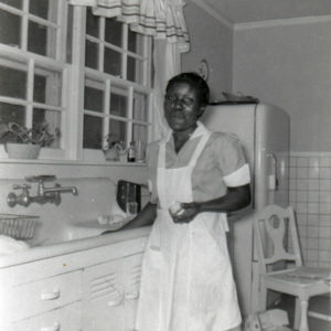 Sarah Woodberry, worked for Mrs. Fairalee Poston - married a Woodberry. She lived at the house in a garage apartment on railroad avenue.jpg