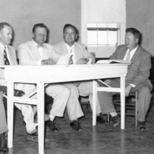Mayor Joe Huggins and council members, Johnsonville Town Council meeting.jpg