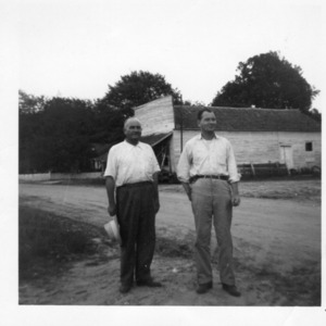 Ottis Huggins Jr. and Sr. at Little Store, Huggins Mill.jpg