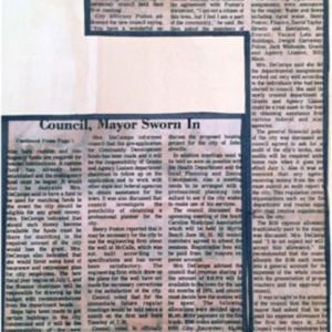 Council, Mayor Sworn In - Weekly Observer - 6 17 1976.pdf