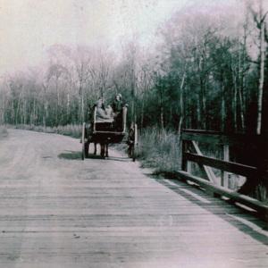Wagon crossing Eaddy Ford Bridge