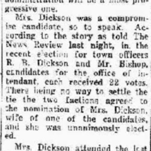 Johnsonville Elects Woman Mayor, Morning News Review, 9-27-1925.pdf