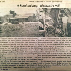 A Rural Industry - Blackwell's Mill - SC Electric Co-Op News - 1950s.pdf