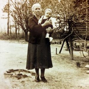 Octavia Carter holding a grandchild.jpg