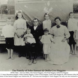 John and O'Rella Cox Huggins Family