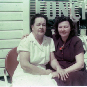 Christine Poston and Blanche Dennis at Poston's Lunch on Broadway
