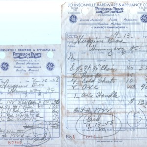 Johnsonville Hardware and Appliance Company Receipt 1958.jpg