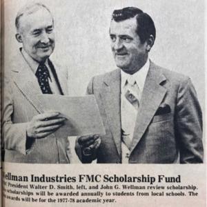 Wellman Scholarship WO 5-26-77.pdf