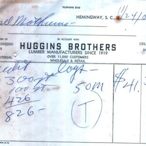 Huggins Brothers Lumber Receipt 1958.jpg