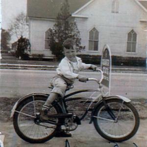 Donnie Lentz at Cottage Lunch - original Johnsonville Methodist Church across street.jpg
