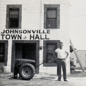 Johnsonville Town Hall purchases new lawn equipment 1954.jpg