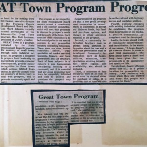 Great Town Program Progress, Weekly Observer, 4-14-1977.pdf