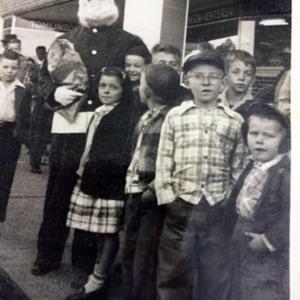 Christmas Parade 1950 - Carl Godwin, Hardee Godwin, Randell Godwin.jpg