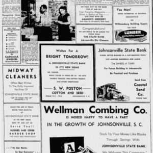 Johnsonville Post Office Holds New Rating - Florence Morning News 27 Jun 1956.pdf