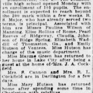 Johnsonville School Opens - The State - 5 Oct 1911.jpg